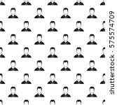 man in shirt avatar pattern.... | Shutterstock . vector #575574709