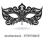 illustration with venetian... | Shutterstock .eps vector #575576815