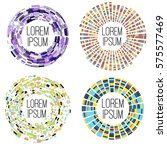abstract round frames for your... | Shutterstock .eps vector #575577469