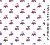 golf car pattern. cartoon... | Shutterstock . vector #575584231