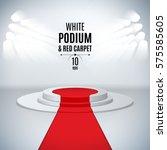 illuminated stage 3d podium... | Shutterstock .eps vector #575585605