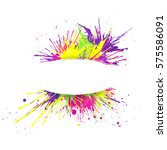 white banner with  vivid and... | Shutterstock .eps vector #575586091