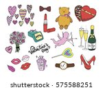 valentines day_colored pattern... | Shutterstock . vector #575588251