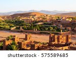 kasbah ait ben haddou in the...   Shutterstock . vector #575589685