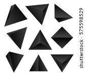 vector gradient black color... | Shutterstock .eps vector #575598529