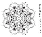 mandala line art for anti... | Shutterstock .eps vector #575599894
