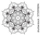 mandala line art for anti... | Shutterstock .eps vector #575599894