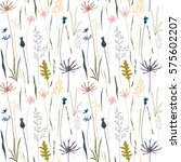 vector floral pattern with... | Shutterstock .eps vector #575602207