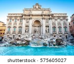 Trevi Fountain In The Morning ...