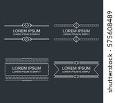 set of vector outline text... | Shutterstock .eps vector #575608489