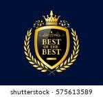luxury  royal and elegant logo...   Shutterstock .eps vector #575613589