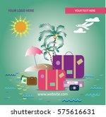 summer vacation | Shutterstock .eps vector #575616631