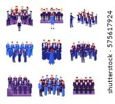 choir flat icons collection of...   Shutterstock .eps vector #575617924