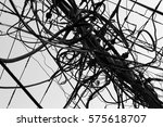 entangled wires on an... | Shutterstock . vector #575618707