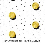 hand drawn vector abstract gold ... | Shutterstock .eps vector #575626825