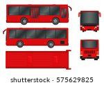 red city bus template.... | Shutterstock .eps vector #575629825