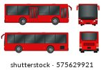 red city bus template.... | Shutterstock .eps vector #575629921