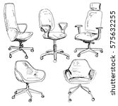 set office chairs isolated on... | Shutterstock .eps vector #575632255