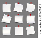 white note papers with... | Shutterstock .eps vector #575633917