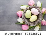 Spring Greeting Card. Easter...