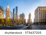 buildings around madison square ... | Shutterstock . vector #575637205