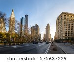 buildings around madison square ... | Shutterstock . vector #575637229