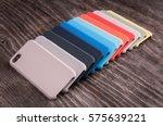 multicolored plastic back... | Shutterstock . vector #575639221
