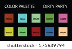 color palette with code vector... | Shutterstock .eps vector #575639794