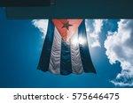 Cuban Flag Waving Against The...