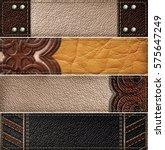 leather banner set | Shutterstock . vector #575647249