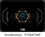 hud background. dashboard... | Shutterstock .eps vector #575647369