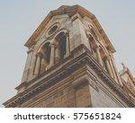 detail of historic church tower ...   Shutterstock . vector #575651824