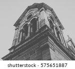 detail of historic church tower ...   Shutterstock . vector #575651887