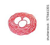 eggs and nest icon. bird nest... | Shutterstock .eps vector #575661301