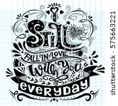 i still fall in love with you... | Shutterstock .eps vector #575663221