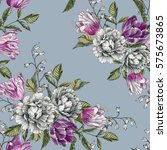 floral seamless pattern with... | Shutterstock . vector #575673865