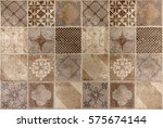 beautiful tile with a drawings | Shutterstock . vector #575674144