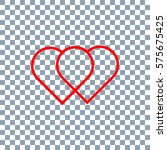 vector heart. valentines day... | Shutterstock .eps vector #575675425