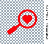 searching a love icon vector.... | Shutterstock .eps vector #575675449