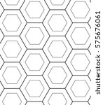 seamless pattern with hexagons. ... | Shutterstock .eps vector #575676061