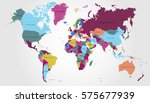 world map countries vector on... | Shutterstock .eps vector #575677939