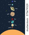 planets solar system flat... | Shutterstock .eps vector #575679529