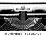 job descriptions typed words on ... | Shutterstock . vector #575681479