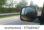 car side mirror with motion... | Shutterstock . vector #575684467