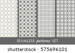 set of seamless geometric line...   Shutterstock .eps vector #575696101