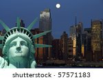 new york cityscape, tourism concept photograph - stock photo