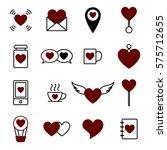 valentine icon set vector... | Shutterstock .eps vector #575712655