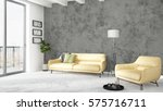 modern bright interior . 3d... | Shutterstock . vector #575716711