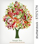 abstract floral tree | Shutterstock .eps vector #57571774