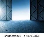 empty clean warehouse aircraft... | Shutterstock . vector #575718361